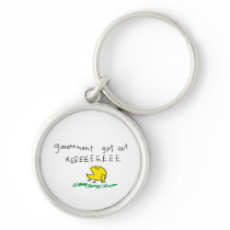Government get out REE SNEKRIGHT Gadsden Flag Keychain