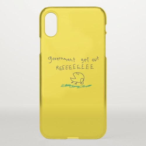 Government get out REE SNEKRIGHT Gadsden Flag Phone Case