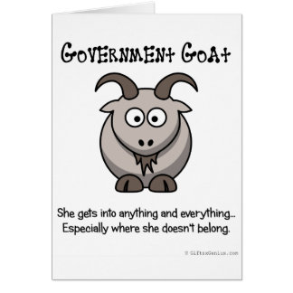 Government goes where it doesn't belong card