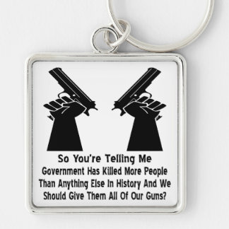 Government Has Killed More People Keychain