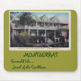 Government House.  MONTSERRAT, Emerald Is... Mouse Pad