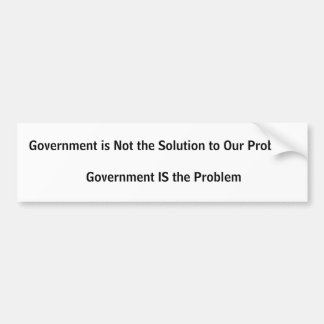 Government is not the solution car bumper sticker