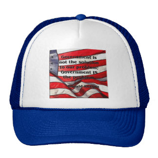 Government is not the solution - Reagan Quote Trucker Hat