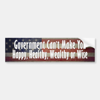 Government is the Problem - Not the Solution Car Bumper Sticker