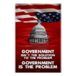 Government is the Problem - red (24x36) Poster
