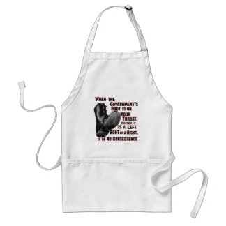 Government Jack Boot On Your Neck Adult Apron
