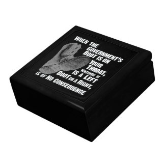 Government Jack Boot On Your Neck Keepsake Box