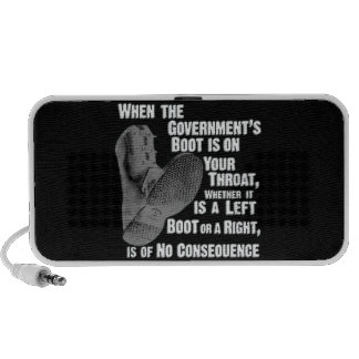 Government Jack Boot On Your Neck Portable Speakers