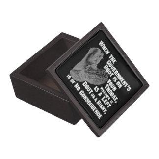 Government Jack Boot On Your Neck Premium Keepsake Box