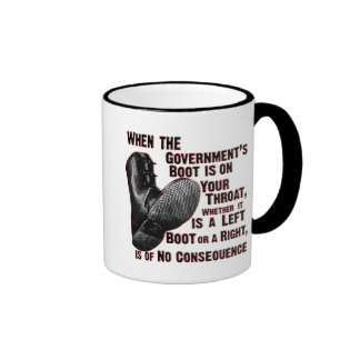 Government Jack Boot On Your Neck Ringer Coffee Mug