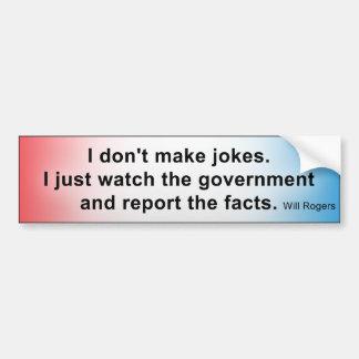 Government Jokes Car Bumper Sticker