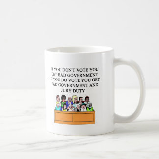 government jury duty joke coffee mug