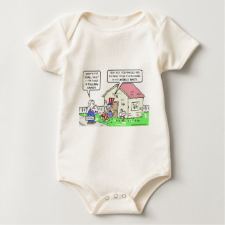 Government neglects America, builds in Middle East Baby Bodysuit