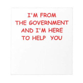 government memo note pad