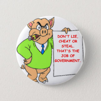 government pinback button
