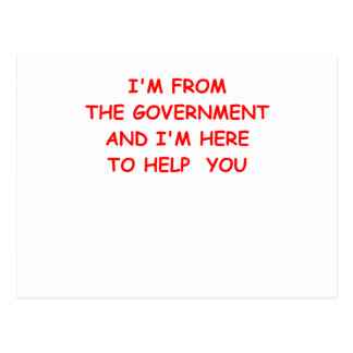 government postcard