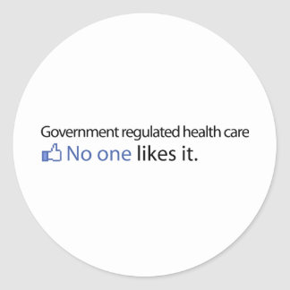 Government Regulated Health Care Classic Round Sticker