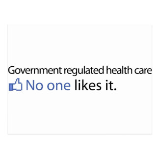 Government Regulated Health Care Postcard