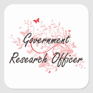 Government Research Officer Artistic Job Design wi Square Sticker
