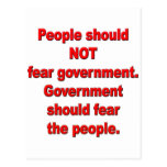 Government should fear people postcards