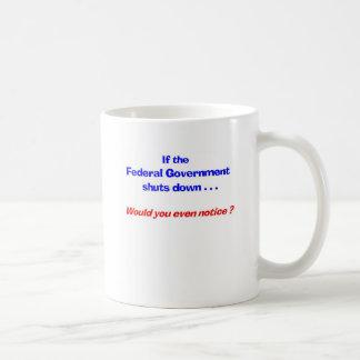 Government Shut Down Cup Classic White Coffee Mug