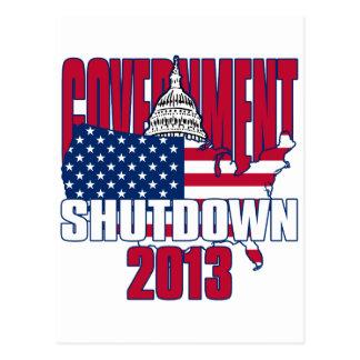 Government Shutdown 2013 Postcards