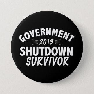 Government Shutdown Survivor Pinback Button