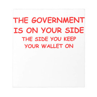 government spending notepad