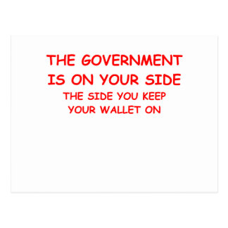 government spending post card