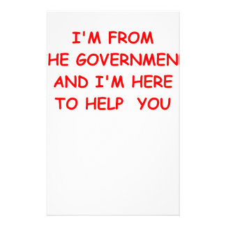 government custom stationery