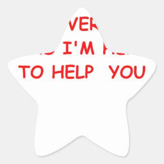 government star sticker