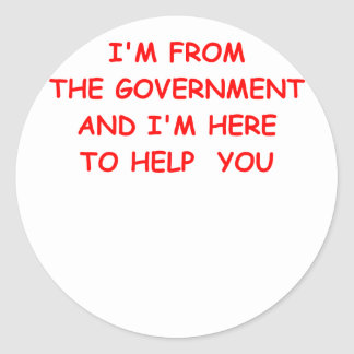 government classic round sticker