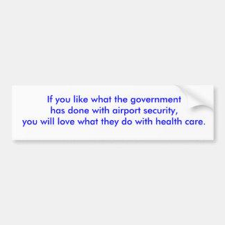 Government takeover bumper sticker