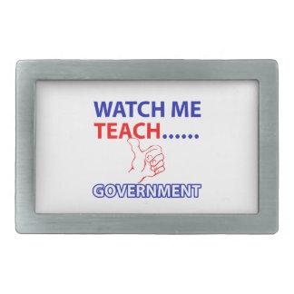 GOVERNMENT Teacher Rectangular Belt Buckle
