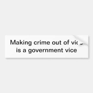 Government vice car bumper sticker