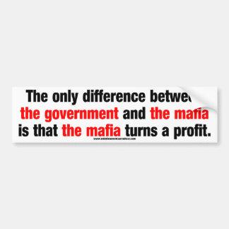 Government vs. The Mafia Car Bumper Sticker