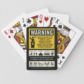 Government Warning Label Playing Cards