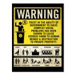 Government Warning Postcard