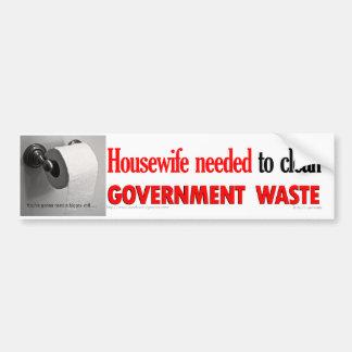 Government Waste bumper sticker Car Bumper Sticker