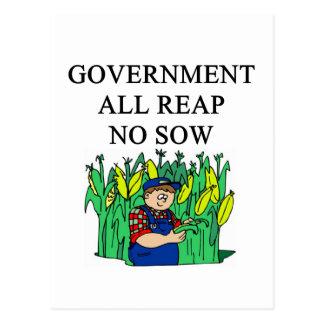 government waste joke postcard
