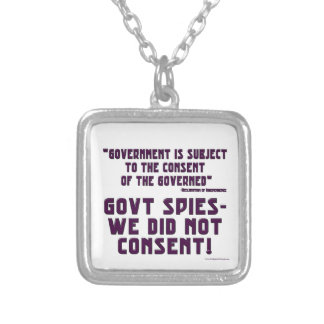 Government We Did Not Consent Pendants