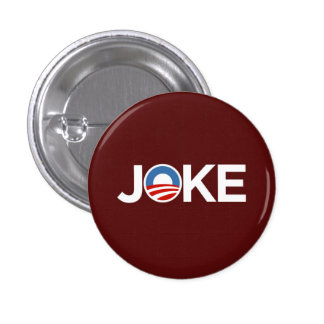 Governments a Joke (Burgundy) 1 Inch Round Button