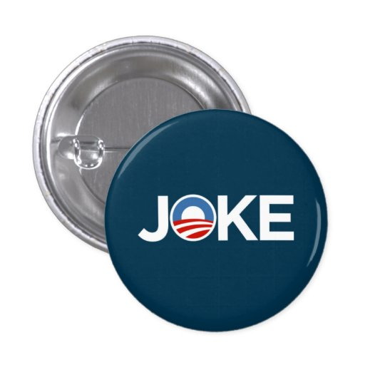 Government's a Joke (Dark Blue) Pinback Button
