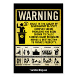Governmet Warning Promotion Cards Business Cards