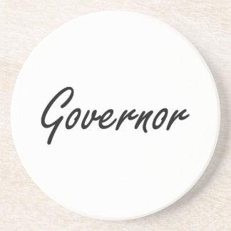 Governor Artistic Job Design Beverage Coasters