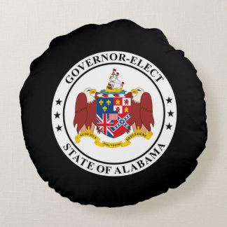 Governor-Elect of Alabama Round Pillow