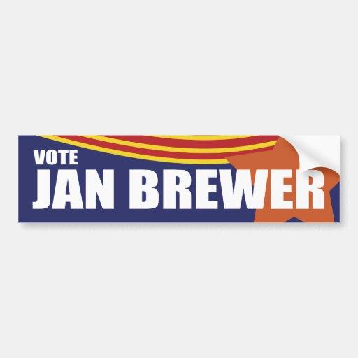 Governor Jan Brewer 2010 Car Bumper Sticker