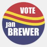 Governor Jan Brewer 2010 Classic Round Sticker