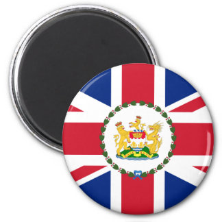 Governor Of Hong Kong, China flag 2 Inch Round Magnet