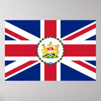 Governor Of Hong Kong, China flag Poster
